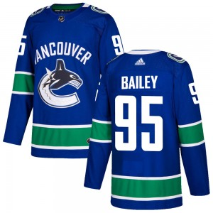 Justin Bailey Vancouver Canucks Men's Adidas Authentic Blue Home Jersey