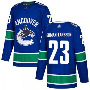 Oliver Ekman-Larsson Vancouver Canucks Men's Adidas Authentic Blue Home Jersey