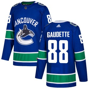 Adam Gaudette Vancouver Canucks Men's Adidas Authentic Blue Home Jersey