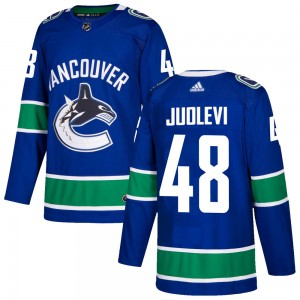Olli Juolevi Vancouver Canucks Men's Adidas Authentic Blue ized Home Jersey