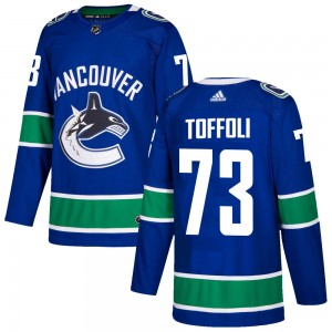 Tyler Toffoli Vancouver Canucks Men's Adidas Authentic Blue ized Home Jersey