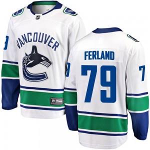 Micheal Ferland Vancouver Canucks Men's Fanatics Branded White Breakaway Away Jersey