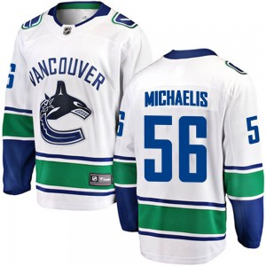 Marc Michaelis Vancouver Canucks Men's Fanatics Branded White Breakaway Away Jersey