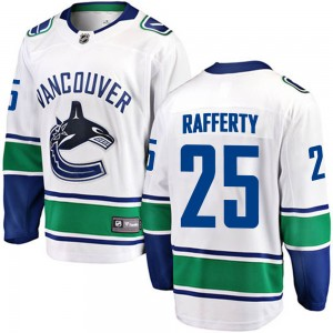Brogan Rafferty Vancouver Canucks Men's Fanatics Branded White Breakaway Away Jersey