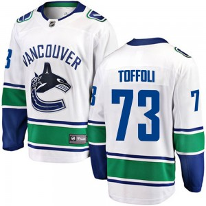 Tyler Toffoli Vancouver Canucks Men's Fanatics Branded White ized Breakaway Away Jersey