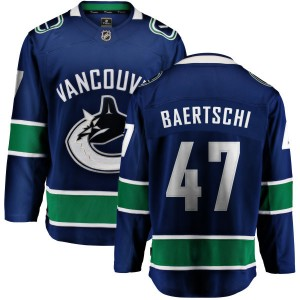 Sven Baertschi Vancouver Canucks Youth Fanatics Branded Blue Home Breakaway Jersey