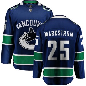 Jacob Markstrom Vancouver Canucks Men's Fanatics Branded Blue Home Breakaway Jersey