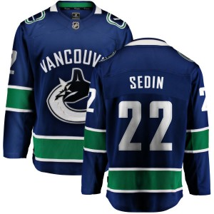 Daniel Sedin Vancouver Canucks Youth Fanatics Branded Blue Home Breakaway Jersey