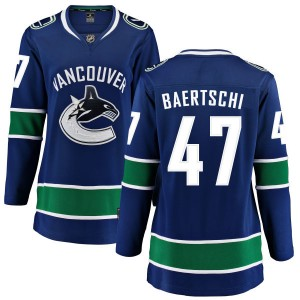 Sven Baertschi Vancouver Canucks Women's Fanatics Branded Blue Home Breakaway Jersey