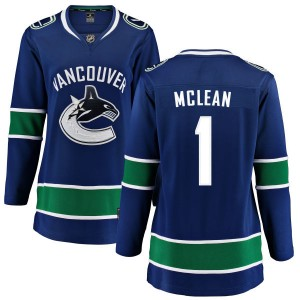 Kirk Mclean Vancouver Canucks Women's Fanatics Branded Blue Home Breakaway Jersey