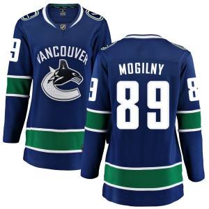 Alexander Mogilny Vancouver Canucks Women's Fanatics Branded Blue Home Breakaway Jersey