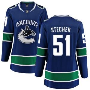 Troy Stecher Vancouver Canucks Women's Fanatics Branded Blue Home Breakaway Jersey