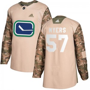 Tyler Myers Vancouver Canucks Men's Adidas Authentic Camo Veterans Day Practice Jersey