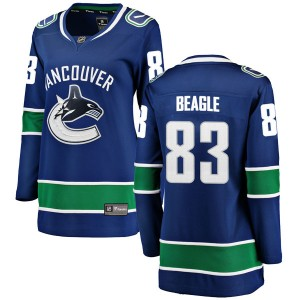 Jay Beagle Vancouver Canucks Women's Fanatics Branded Blue Breakaway Home Jersey