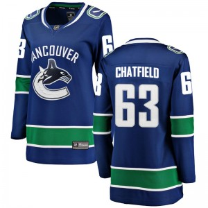 Jalen Chatfield Vancouver Canucks Women's Fanatics Branded Blue Breakaway Home Jersey