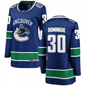 Louis Domingue Vancouver Canucks Women's Fanatics Branded Blue ized Breakaway Home Jersey