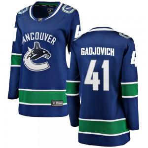 Jonah Gadjovich Vancouver Canucks Women's Fanatics Branded Blue Breakaway Home Jersey