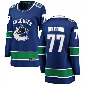 Nikolay Goldobin Vancouver Canucks Women's Fanatics Branded Blue Breakaway Home Jersey
