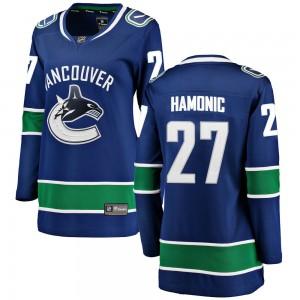 Travis Hamonic Vancouver Canucks Women's Fanatics Branded Blue Breakaway Home Jersey