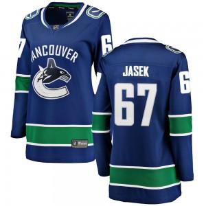 Lukas Jasek Vancouver Canucks Women's Fanatics Branded Blue Breakaway Home Jersey