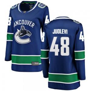 Olli Juolevi Vancouver Canucks Women's Fanatics Branded Blue ized Breakaway Home Jersey