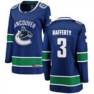 Brogan Rafferty Vancouver Canucks Women's Fanatics Branded Blue Breakaway Home Jersey