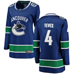 Josh Teves Vancouver Canucks Women's Fanatics Branded Blue Breakaway Home Jersey