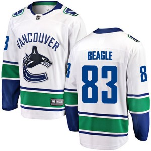 Jay Beagle Vancouver Canucks Youth Fanatics Branded White Breakaway Away Jersey
