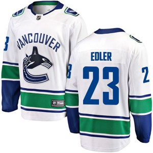 Alexander Edler Vancouver Canucks Youth Fanatics Branded White Breakaway Away Jersey