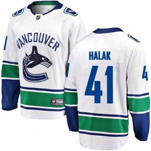 Jaroslav Halak Vancouver Canucks Youth Fanatics Branded White Breakaway Away Jersey
