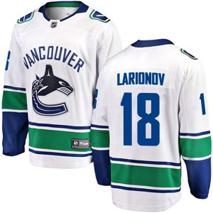 Igor Larionov Vancouver Canucks Youth Fanatics Branded White Breakaway Away Jersey