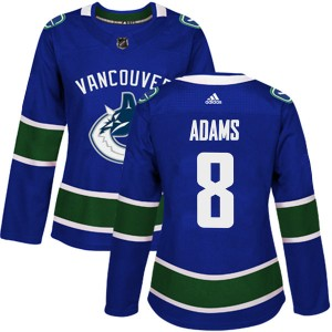 Greg Adams Vancouver Canucks Women's Adidas Authentic Blue Home Jersey