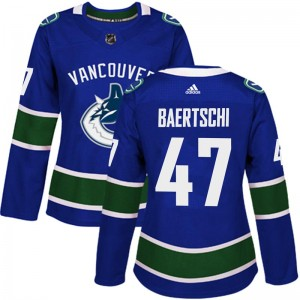 Sven Baertschi Vancouver Canucks Women's Adidas Authentic Blue Home Jersey