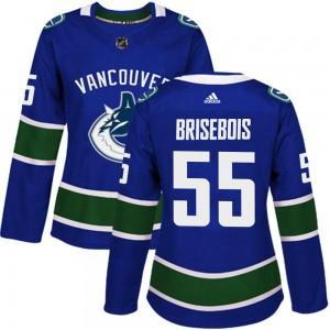 Guillaume Brisebois Vancouver Canucks Women's Adidas Authentic Blue Home Jersey