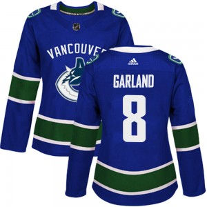 Conor Garland Vancouver Canucks Women's Adidas Authentic Blue Home Jersey