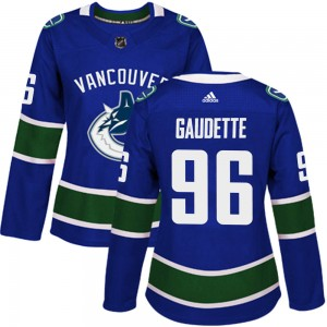 Adam Gaudette Vancouver Canucks Women's Adidas Authentic Blue Home Jersey