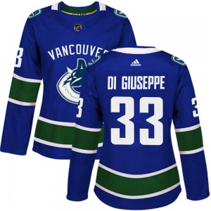 Phillip Di Giuseppe Vancouver Canucks Women's Adidas Authentic Blue Home Jersey