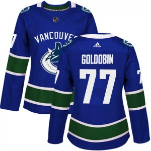 Nikolay Goldobin Vancouver Canucks Women's Adidas Authentic Blue Home Jersey