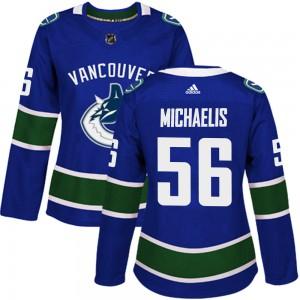 Marc Michaelis Vancouver Canucks Women's Adidas Authentic Blue Home Jersey