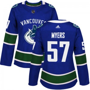 Tyler Myers Vancouver Canucks Women's Adidas Authentic Blue Home Jersey