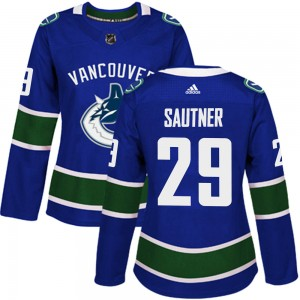 Ashton Sautner Vancouver Canucks Women's Adidas Authentic Blue Home Jersey