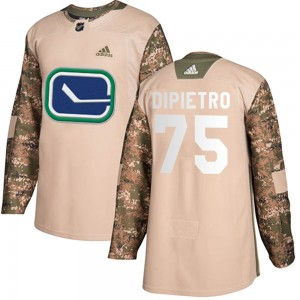 Michael DiPietro Vancouver Canucks Youth Adidas Authentic Camo Veterans Day Practice Jersey