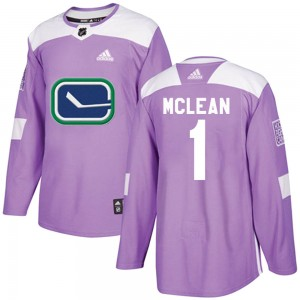 Kirk Mclean Vancouver Canucks Youth Adidas Authentic Purple Fights Cancer Practice Jersey