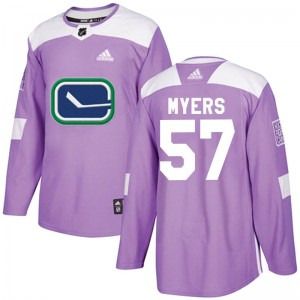Tyler Myers Vancouver Canucks Youth Adidas Authentic Purple Fights Cancer Practice Jersey