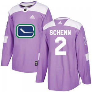 Luke Schenn Vancouver Canucks Youth Adidas Authentic Purple Fights Cancer Practice Jersey