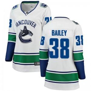 Justin Bailey Vancouver Canucks Women's Fanatics Branded White Breakaway Away Jersey