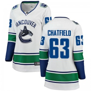Jalen Chatfield Vancouver Canucks Women's Fanatics Branded White Breakaway Away Jersey
