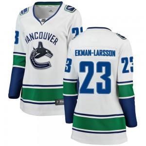 Oliver Ekman-Larsson Vancouver Canucks Women's Fanatics Branded White Breakaway Away Jersey