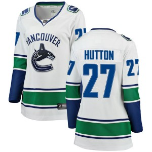 Ben Hutton Vancouver Canucks Women's Fanatics Branded White Breakaway Away Jersey