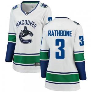 Jack Rathbone Vancouver Canucks Women's Fanatics Branded White Breakaway Away Jersey